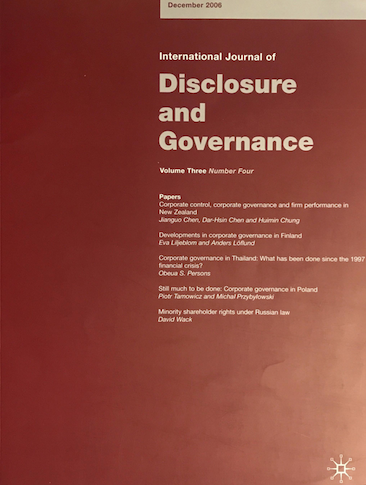 STILL MUCH TO BE DONE: CORPORATE GOVERNANCE IN POLAND.